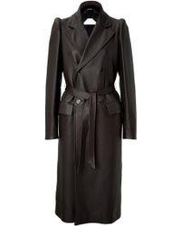 Maison Margiela Deer Leather Coat black - Lyst