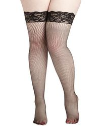 Leg Avenue, Inc. Pin-Up Posing Thigh Highs In Plus Size - Lyst
