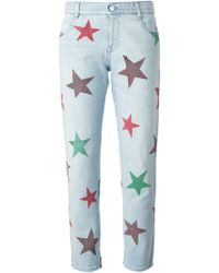 Stella McCartney Tomboy Star Relaxed-fit Low-rise Drop-crotch Stretch-denim Jeans blue - Lyst