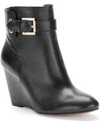 Nine West Zapper Wedge Ankle Boots - Lyst