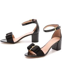 Tory Burch Trudy Block Heel Sandals Blackblack - Lyst