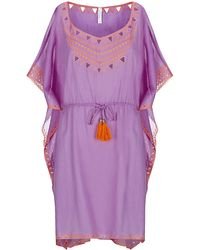 Seafolly Purple Deco Coverup - Lyst