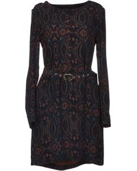 Antik Batik Brown Short Dress - Lyst