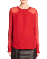 Tamara Mellon Neo Western Silk Blouse - Lyst