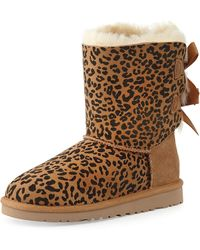 Ugg Kids Leopard-Print Bailey Boot - Lyst