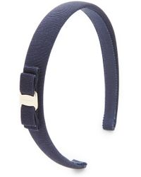 Ferragamo | Vara Thin Headband - Blueberry | Lyst