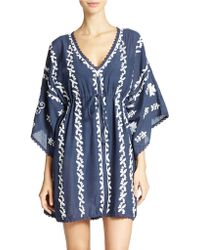 Amita Naithani - Embroidered Swim Tunic - Lyst