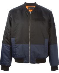 T By Alexander Wang Panelled Bomber Jacket - Lyst