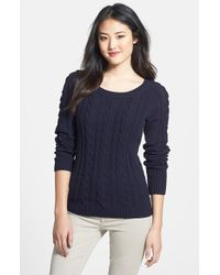 Anne Klein Women'S Open Detail Cable Knit Sweater blue - Lyst