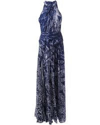 Matthew Williamson Printed Evening Gown - Lyst