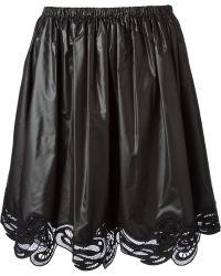 Christopher Kane Guipure Lace Hem Skirt - Lyst