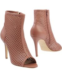 Giampaolo Viozzi Ankle Boots pink - Lyst