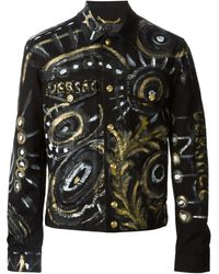 Versace Hand-painted Jeans Jacket - Lyst