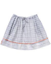 Lemlem Lemlem Printed Border Skirt In Grey - Lyst