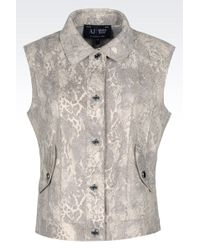 Armani Jeans Gilet In Python Print Faux Leather - Lyst