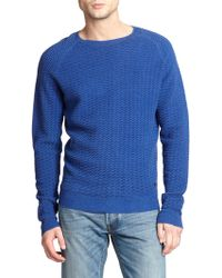 Marc By Marc Jacobs Wave-Textured Sweatshirt blue - Lyst