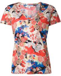 Carven Flower Print T-Shirt - Lyst