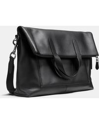 COACH | Manhattan Foldover Tote In Leather | Lyst