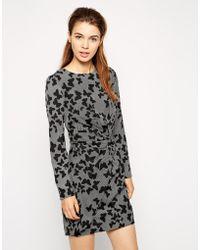 Oasis Butterfly Twist Long Sleeve Dress - Lyst