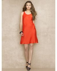 Blue Label Sleeveless Satin Dress - Lyst