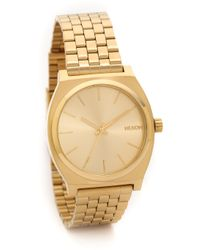 Nixon Time Teller Watch  Gold - Lyst