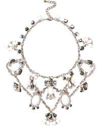 River Island Gold Tone Gemstone Statement Short Necklace - Lyst