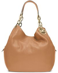 Michael Kors Fulton Large Leather Shoulder Bag - Lyst