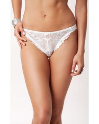 Lonely Hearts White Flora Brief - Lyst