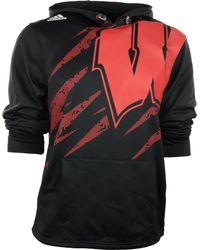Adidas Wisconsin Badgers Aftershock PU Hoodie - Lyst