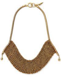 Diane von Furstenberg Thea Mesh Drape Necklace gold - Lyst