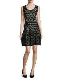 Nanette Lepore Diamond Dazzle Sleeveless Dress - Lyst