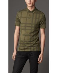 Burberry Check Cotton Polo Shirt - Lyst