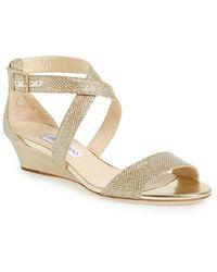 Jimmy Choo Women'S 'Chiara' Wedge Sandal - Lyst