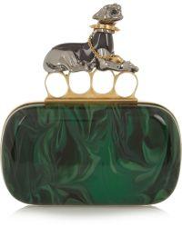 Alexander McQueen Panther Swarovski Crystalembellished Plexiglasreg Box Clutch - Lyst