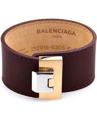 Balenciaga Le Dix Leather Bracelet - Lyst