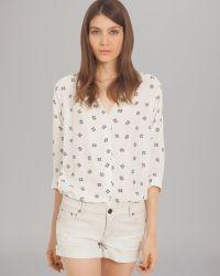 Maje Shirt Button Front Print - Lyst