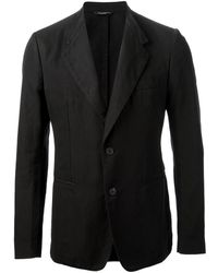Dolce & Gabbana Black Fitted Blazer - Lyst