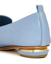 Nicholas Kirkwood | 'beya Bottalato' Metal Heel Leather Skimmer Loafers | Lyst
