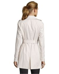 DKNY Muslin Cotton Blend Double Breasted 'Harper' Trench - Lyst