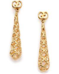 Gucci Diamantissima 18k Yellow Gold Teardrop Earrings - Lyst