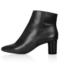 Topshop Aggy Low Heel Ankle Boots - Lyst