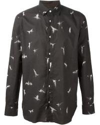 Ann Demeulemeester Humming Bird Print Shirt - Lyst