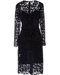 Jonathan Saunders Black Kneelength Dress - Lyst