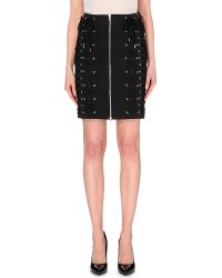 Jean Paul Gaultier Lace-Up Cotton-Blend Skirt - Lyst