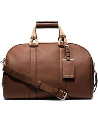 Michael Kors Bennett Pebbled-Leather Duffel - Lyst