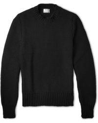 Acne Studios Bill Chunky-knit Cotton-blend Sweater - Lyst