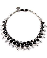 """Ellen Conde - Black Graduated Collar Necklace, 15"""" - Lyst"""