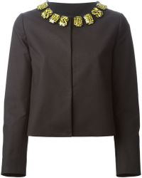 Moschino Cheap & Chic Embellished Collar Jacket - Lyst