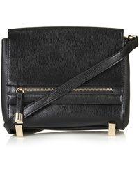 Topshop Womens Smart Boxy Crossbody Bag - Black - Lyst