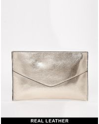 French connection Nienke Metallic Pouch Bag - Lyst
